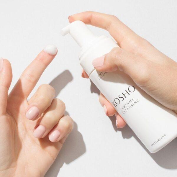 Aesthetikonzept - KOSHO Creamy Cleansing Foam_Application